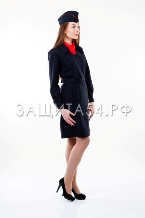 Платье Полиция д/р (стрейч)