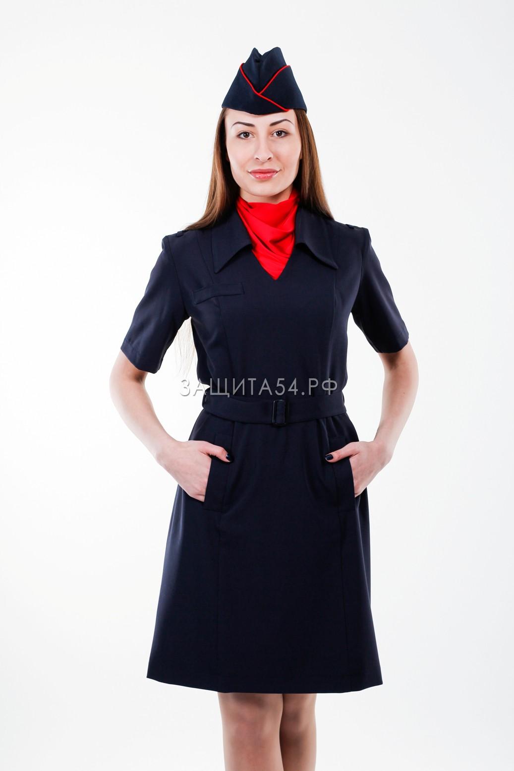 Платье Полиция к/р (стрейч)