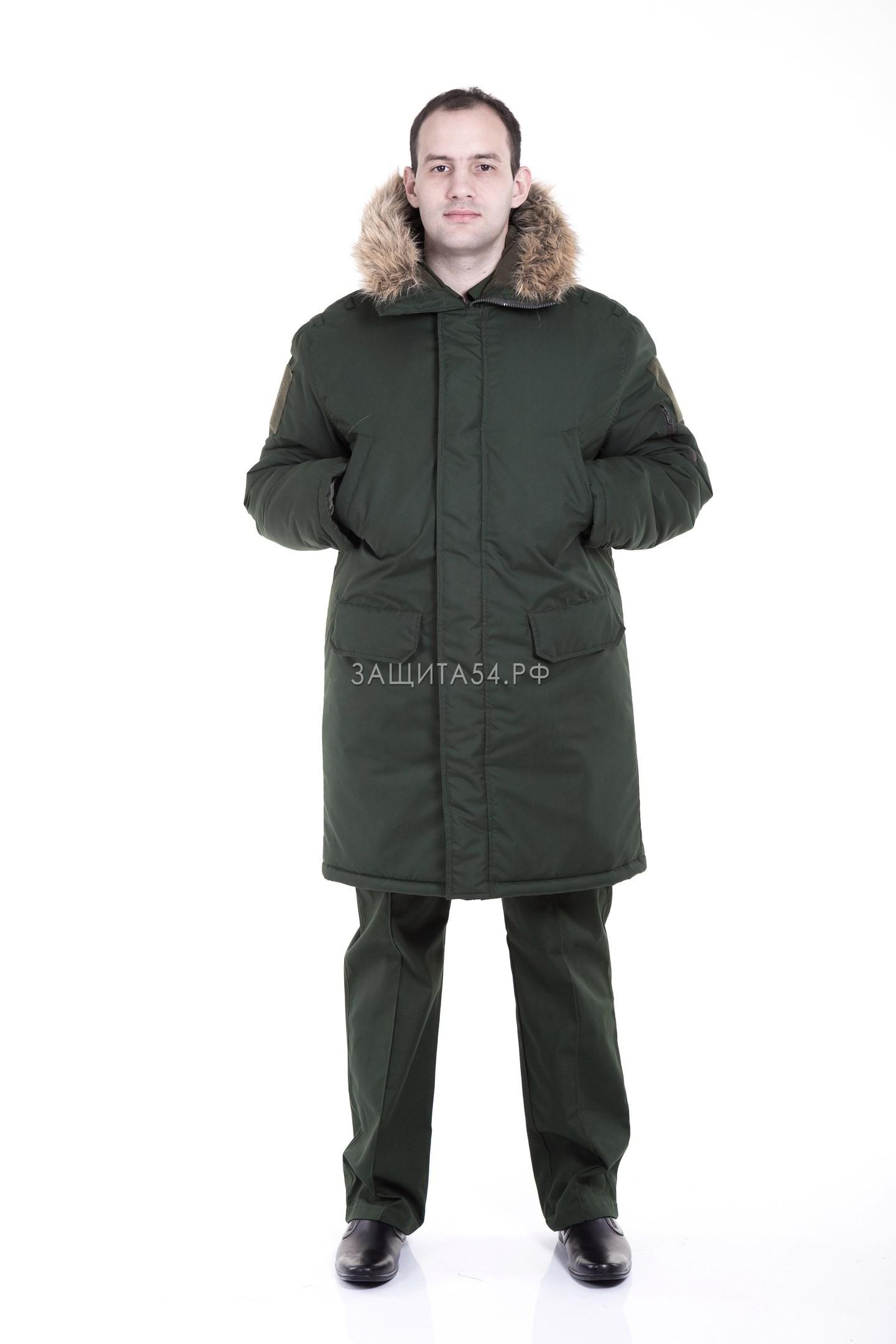 Куртка зимняя для военнослужащих  Аляска зеленая